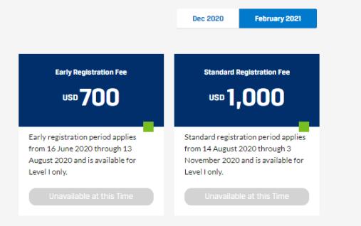 2021年cfa一阶段和二阶段报名费如何呢?有没有三阶段费用?