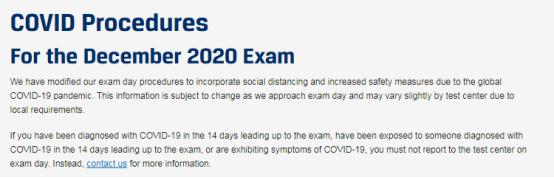 CFA协会官网公布考试当天的防疫守则!